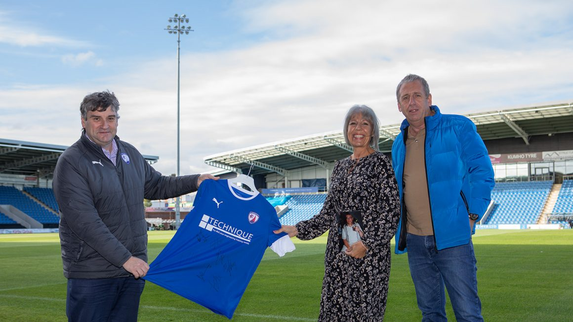 Shirt presented to supporter's daughter