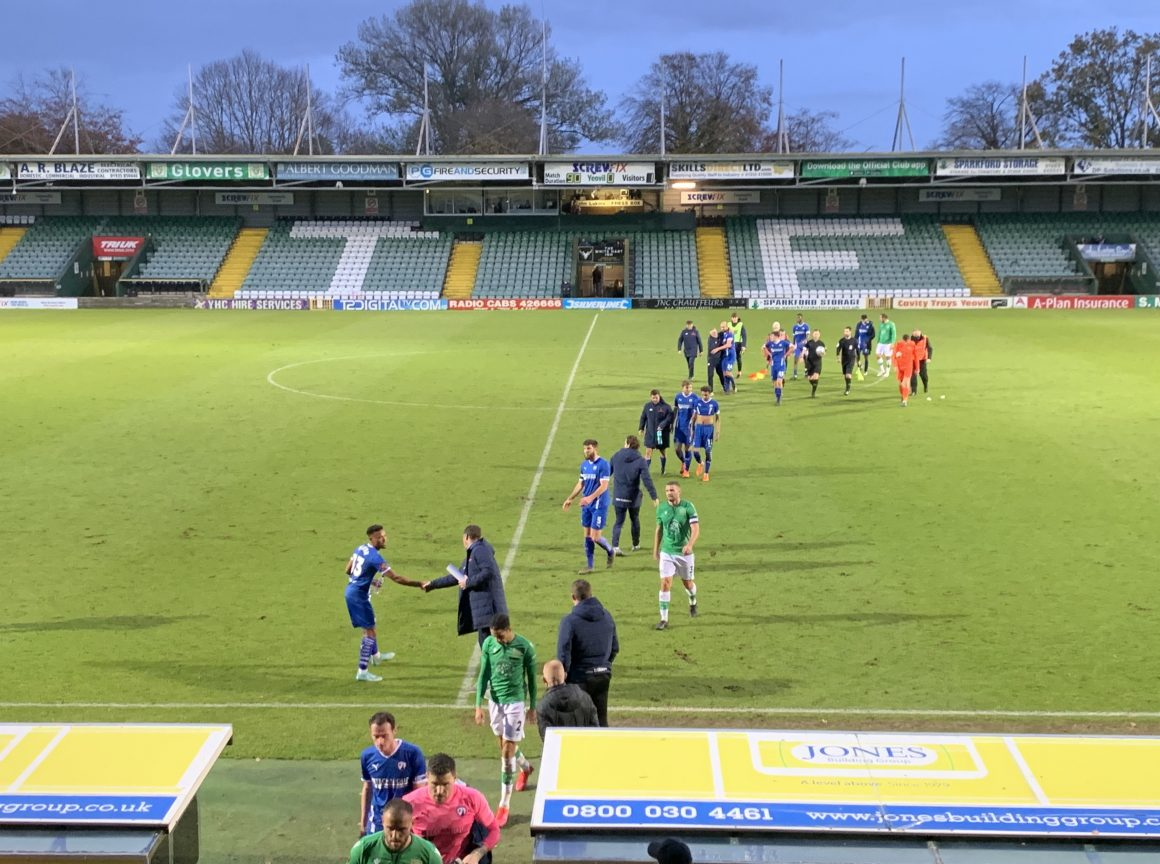 Spireites win at Yeovil