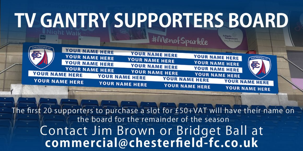 Add your name to the supporters board
