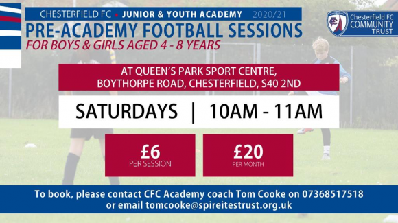 Pre-academy football sessions
