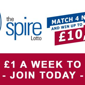 This week's Spire Lotto jackpot: £6,000!