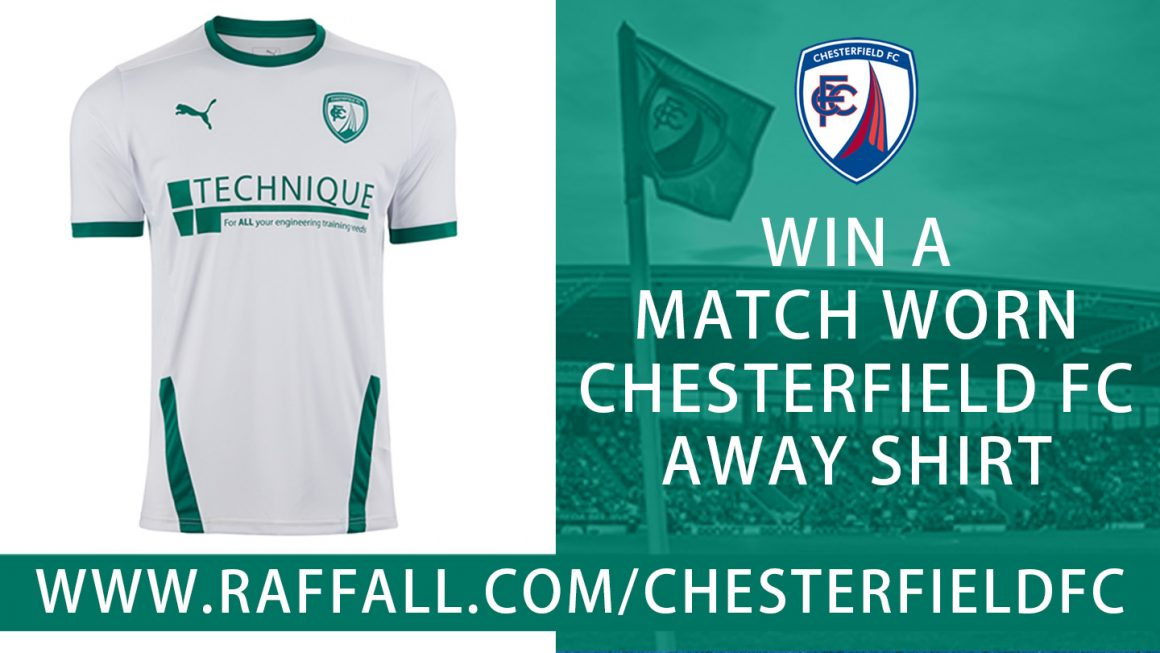 Your chance to win a match-worn away shirt!