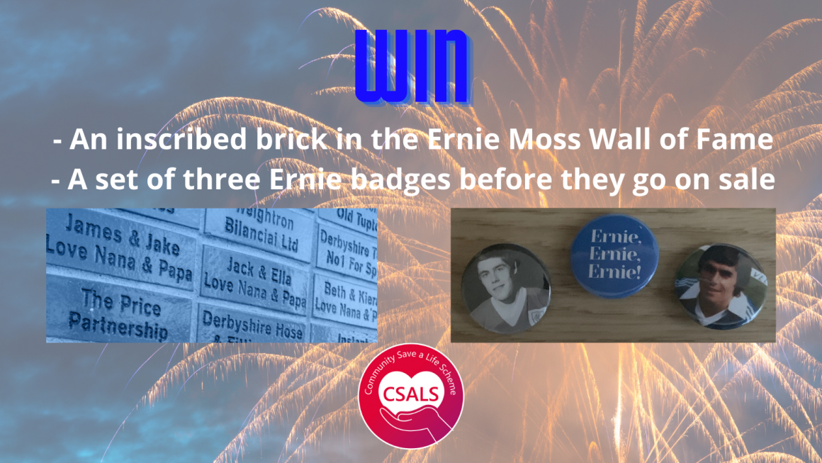 Win Ernie Moss brick and badges!
