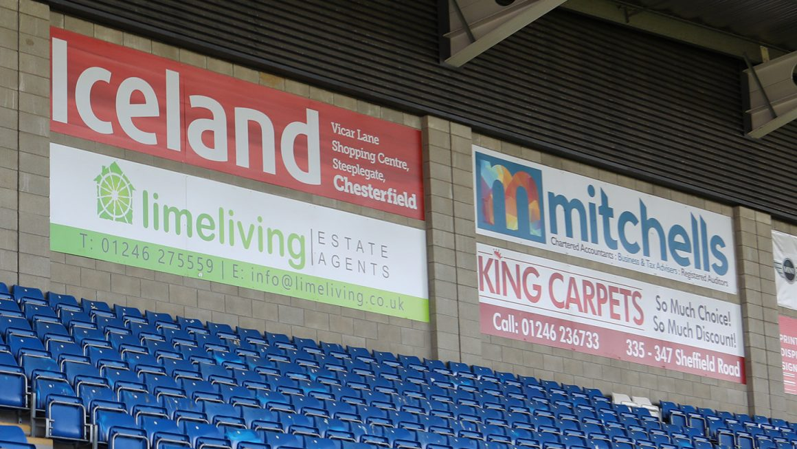 Special offer on advertising boards