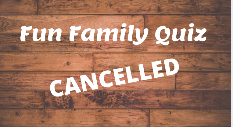 Quiz cancelled