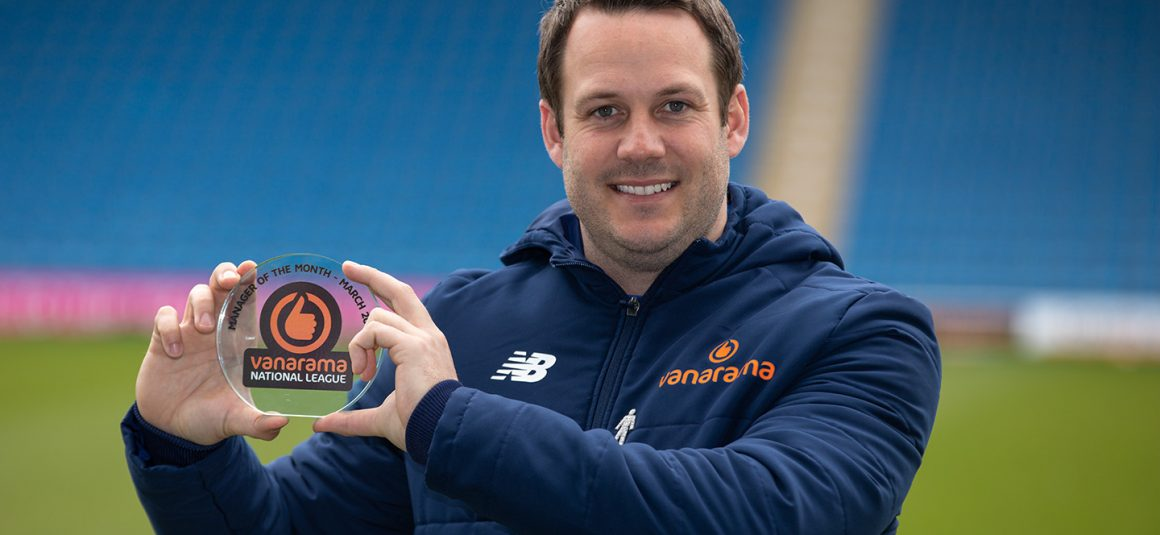 Rowe lands Manager of the Month award