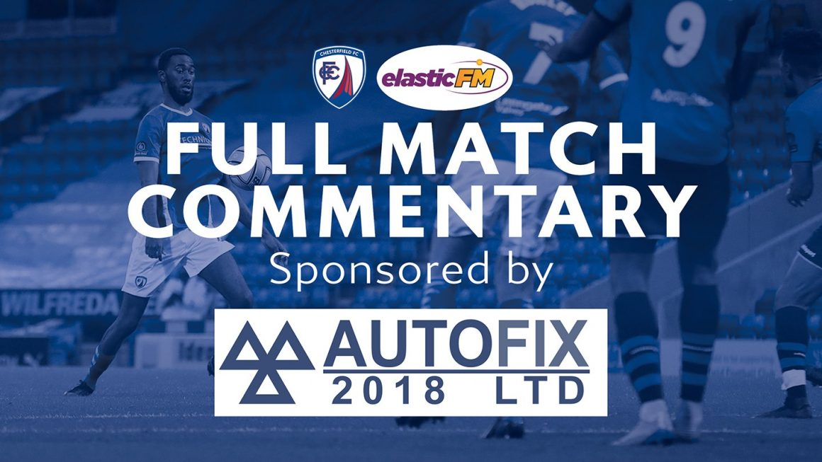 Full match commentary/Spireites line-up