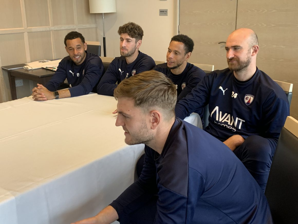 Players take part in online Q&A session with local school