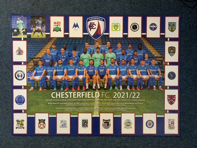 Poster stickers in matchday programme