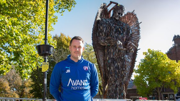 Manager views Knife Angel