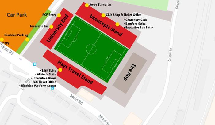 Travelling supporters' guide to Wrexham